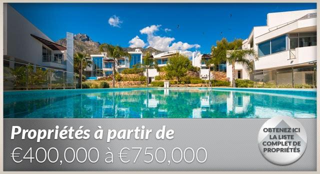 Super affaires - 400,000€ à 750,000€