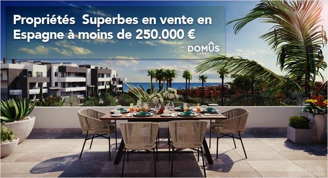Propriétés à moins de 250.000€
